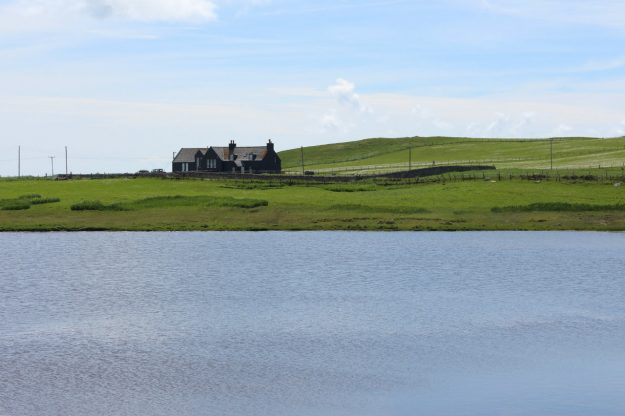 North Uist Outer Hebrides Scotland self-catering accommodation across Loch Eubhal