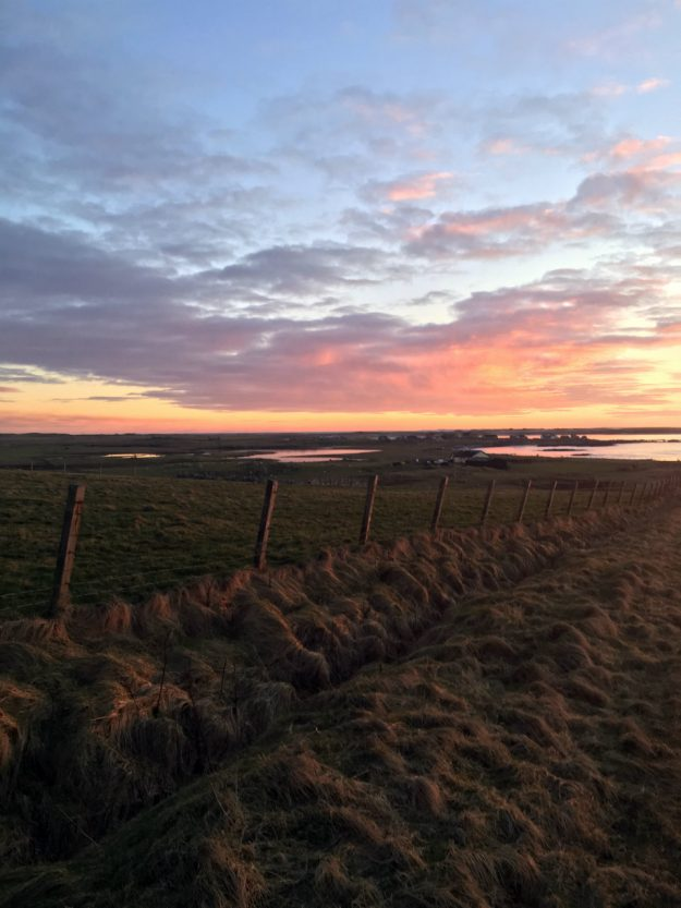 North Uist Outer Hebrides Scotland self-catering accommodation sunset brough hill